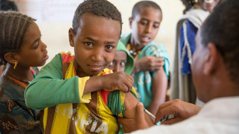 Measles vaccination in Ethiopia